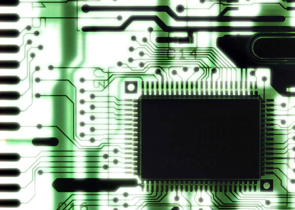 Component Poster featuring the photograph Computer Circuit Board by Tim Vernonlth Nhs Trust
