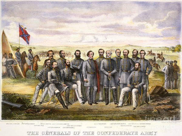 1860s Poster featuring the photograph Confederate Generals by Granger