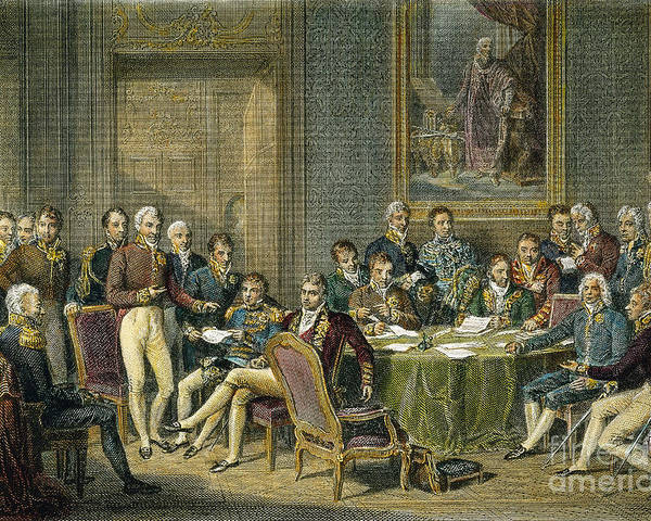 1815 Poster featuring the photograph Congress Of Vienna, 1815 by Granger
