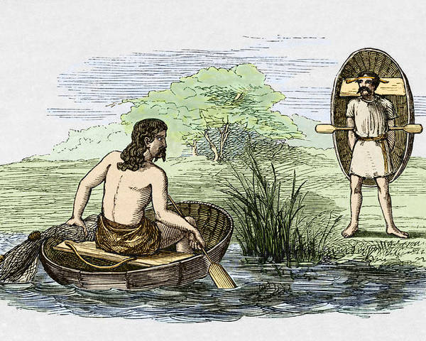 Coracle Poster featuring the photograph Coracle Boats Of The Ancient Britons by Sheila Terry