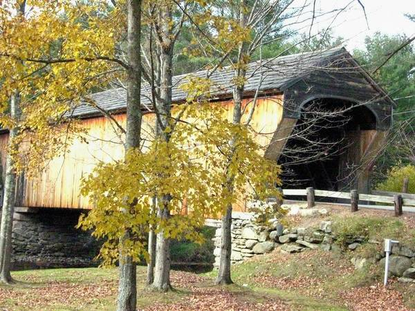 Nh Poster featuring the photograph Corbin Covered Bridge by Wayne Toutaint