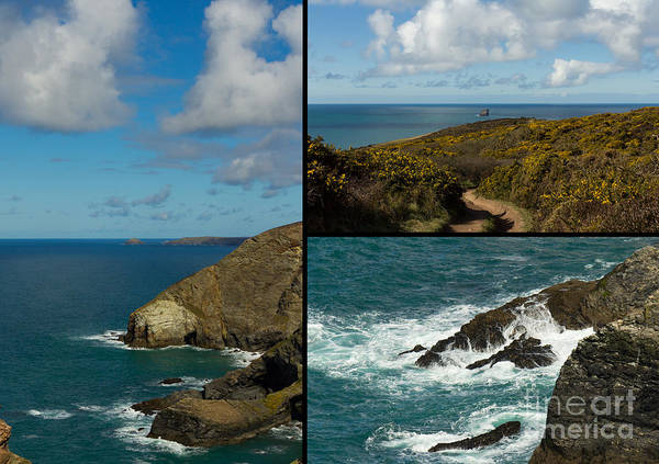 Landscape Poster featuring the photograph Cornwall North Coast by Brian Roscorla