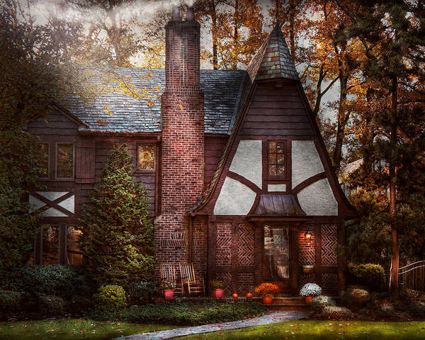 Cottage Poster featuring the photograph Cottage - Westfield Nj - A Place To Retire by Mike Savad