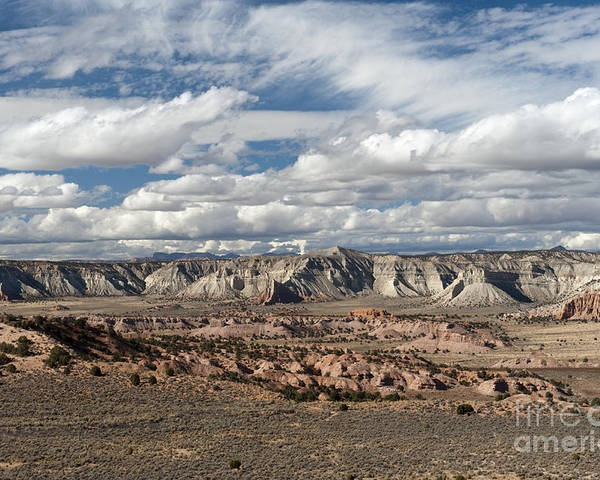 Southwest Poster featuring the photograph Cottonwood Canyon Badlands by Sandra Bronstein