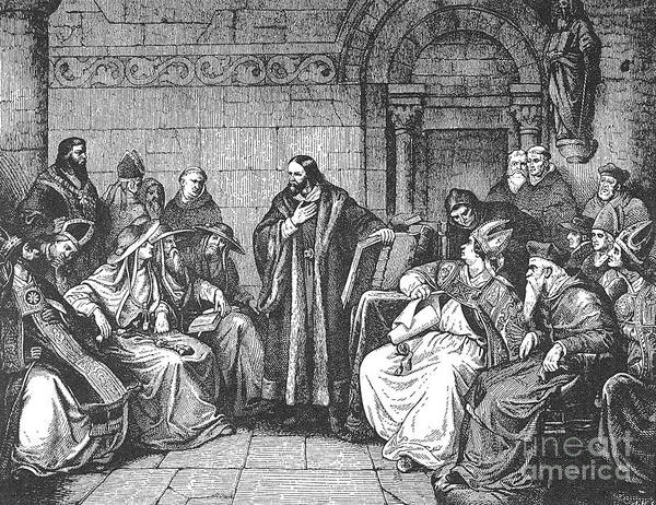 1414 Poster featuring the photograph Council Of Constance, 1414 by Granger