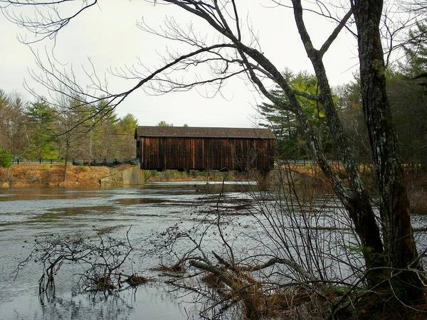 Nh Poster featuring the photograph County Covered Bridge by Wayne Toutaint