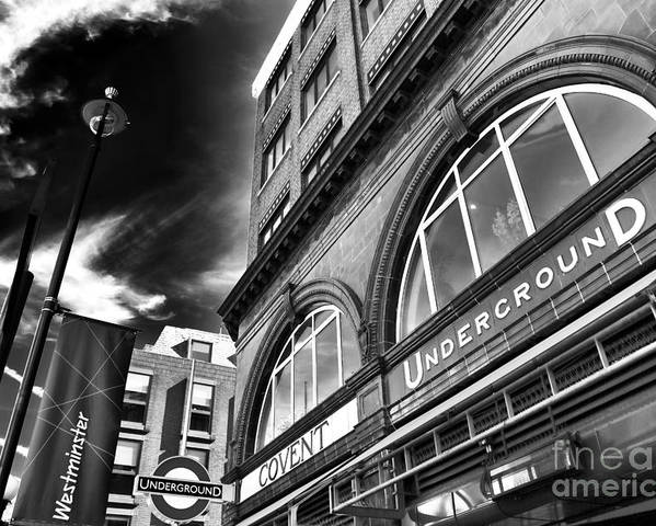 Covent Underground Station Poster featuring the photograph Covent Underground Station by John Rizzuto