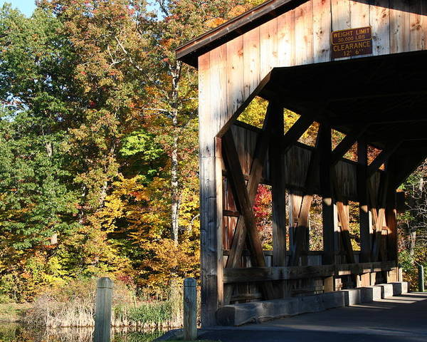 New York Poster featuring the photograph Covered Bridge by Carol Ann Thomas
