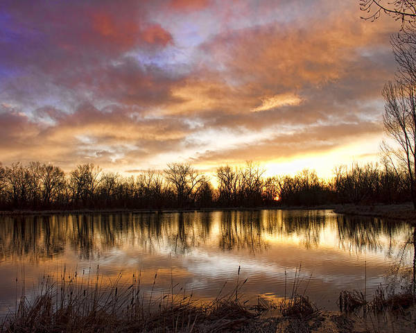Beautiful Poster featuring the photograph Crane Hollow Sunrise Boulder County Colorado by James BO Insogna