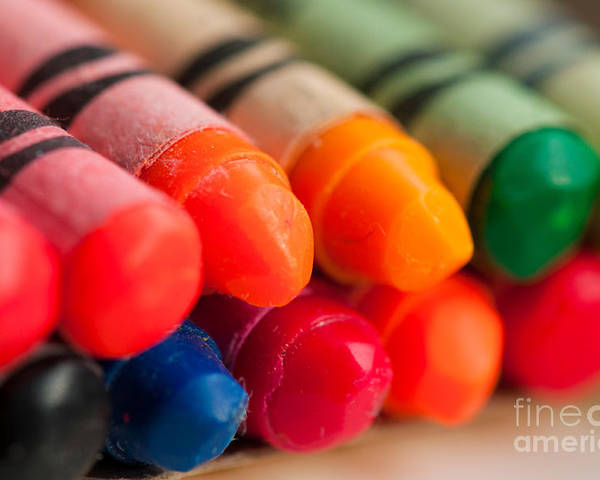 Colour Poster featuring the photograph Crayons 2 by Gary Chapple
