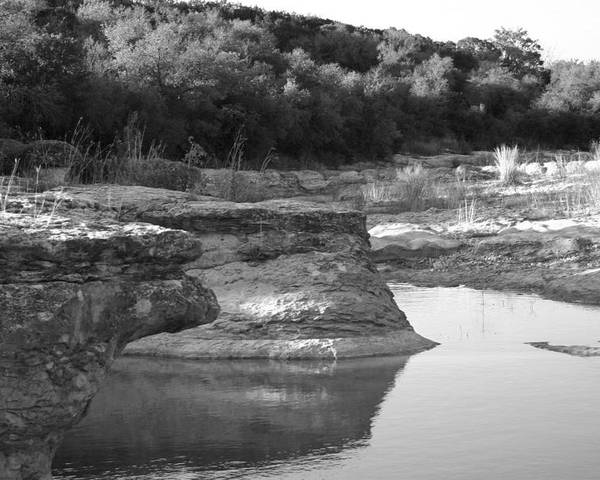 Landscape Poster featuring the photograph Creek In Texas by Nina Fosdick