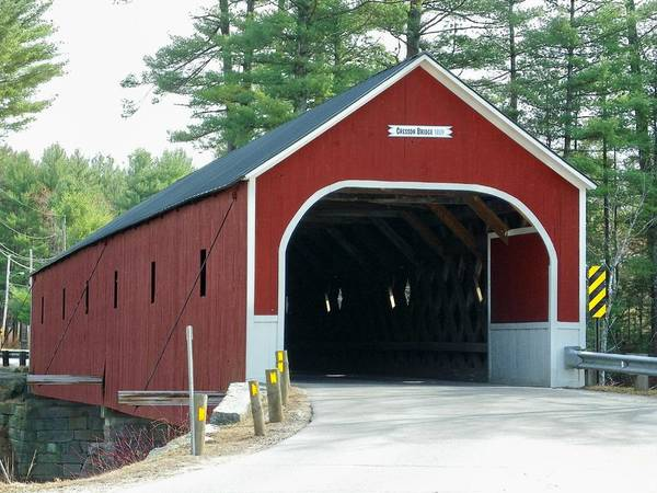 Nh Poster featuring the photograph Cresson Covered Bridge by Wayne Toutaint