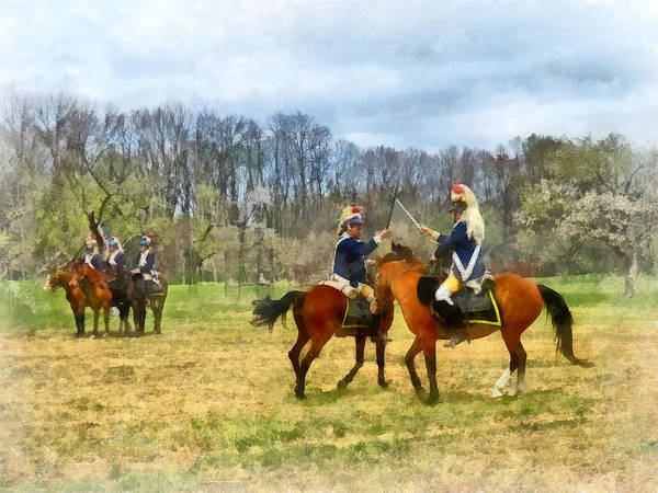 Revolutionary War Poster featuring the photograph Crossing Sabers by Susan Savad