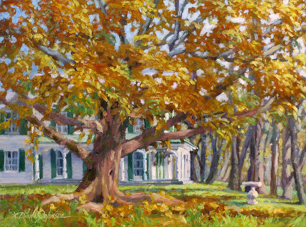 Plein Air Oil Landscape Painting Poster featuring the painting Crown of Gold by L Diane Johnson