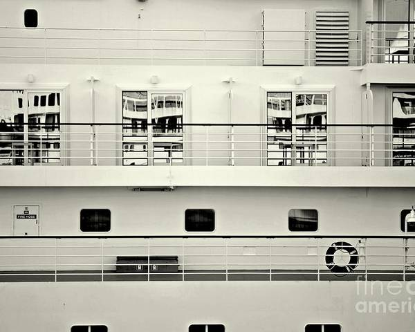 Ship Poster featuring the photograph Cruise Reflections by Dean Harte