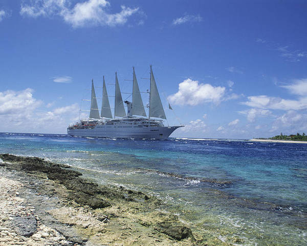 Ship Poster featuring the photograph Cruise Ship by Alexis Rosenfeld