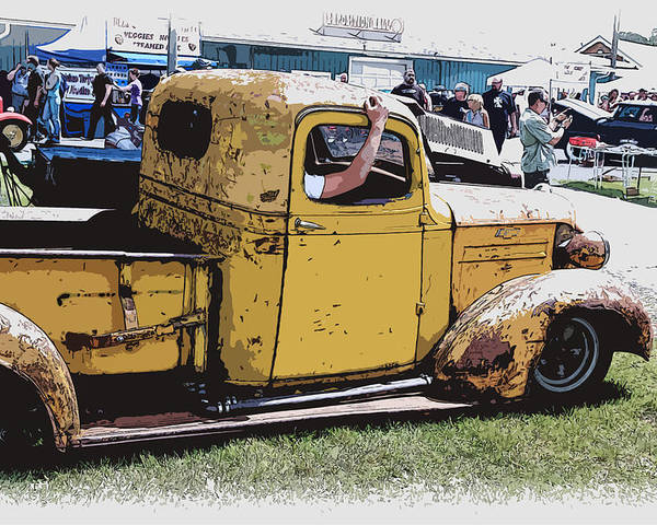 Hot Rod Poster featuring the photograph Cruising The Old Chevy by Steve McKinzie