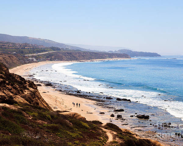 America Poster featuring the photograph Crystal Cove Orange County California by Paul Velgos
