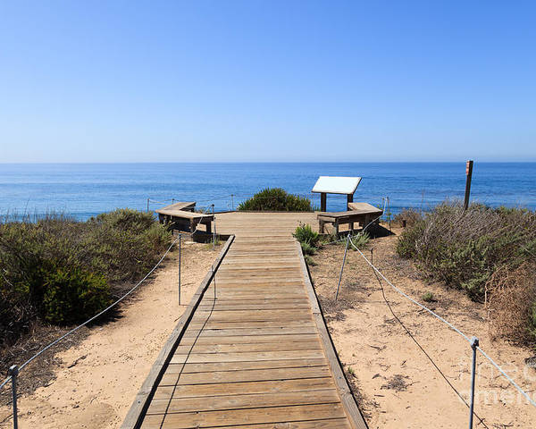 America Poster featuring the photograph Crystal Cove State Park Ocean Overlook by Paul Velgos