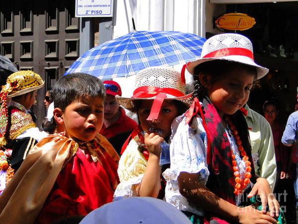 Al Bourassa Poster featuring the photograph Cuenca Kids 187 by Al Bourassa