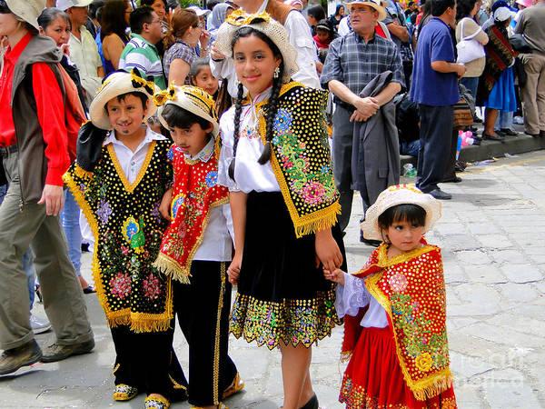 Al Bourassa Poster featuring the photograph Cuenca Kids 80 by Al Bourassa