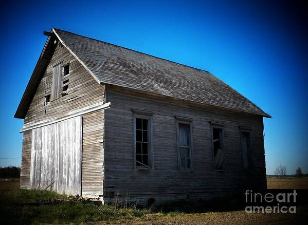 Schools Poster featuring the photograph Daddys Old School House by Joyce Kimble Smith