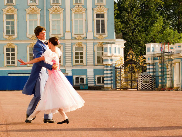 Built Structure Poster featuring the photograph Dance At Saint Catherine Palace by David Smith