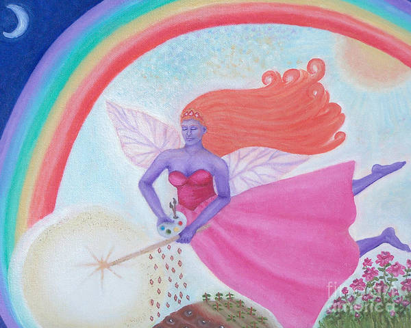 Fairy Poster featuring the painting Dance With The Fairy Queen by Robin Phillips