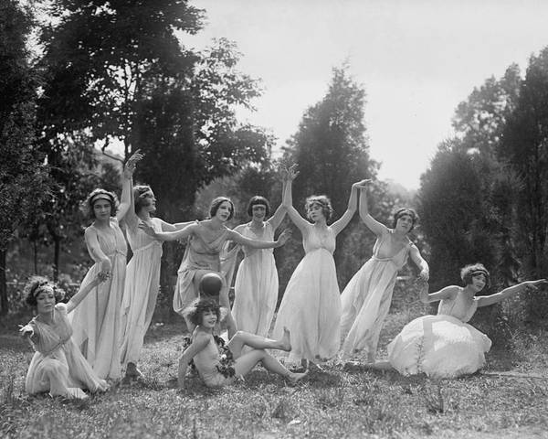 Historical Poster featuring the photograph Dancers Of The National American Ballet by Everett