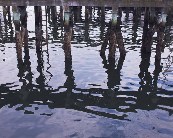 Pilings Poster featuring the photograph Dancing Pilings by Ruth H Curtis