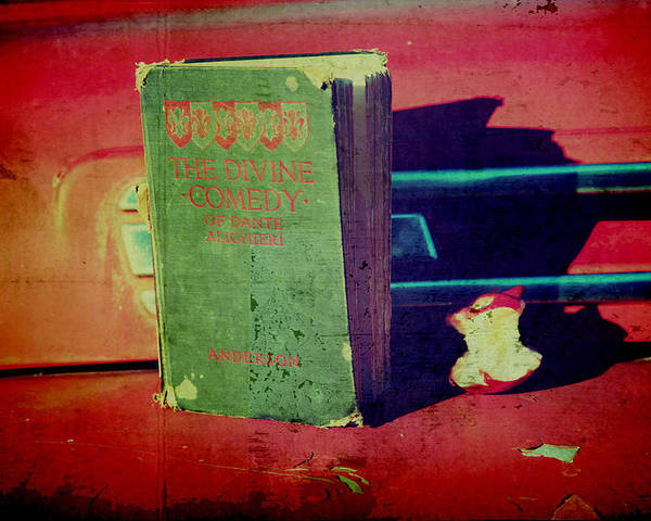 Vintage Book Poster featuring the photograph Dante's Snack by Toni Hopper