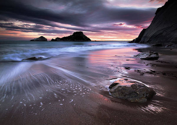 Horizontal Poster featuring the photograph Dark Sunrise On Hidden Bay by Danyssphoto