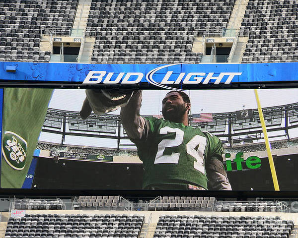 Darrelle Revis Poster featuring the photograph Darrelle Revis - Ny Jets by Paul Ward