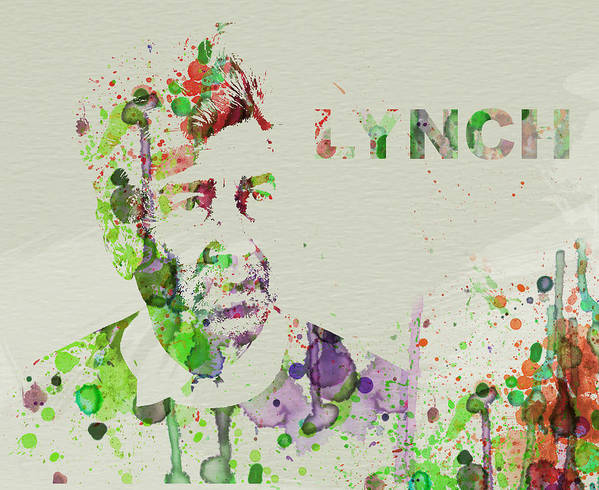 David Lynch Poster featuring the painting David Lynch by Naxart Studio