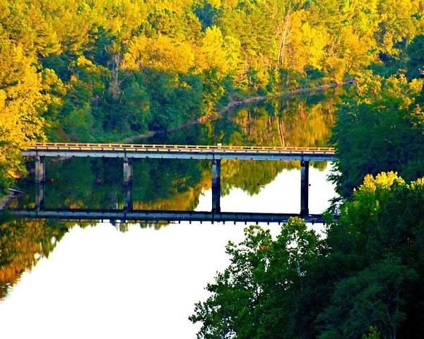 Landscape Poster featuring the photograph De Gray Bridge by Jan Canavan