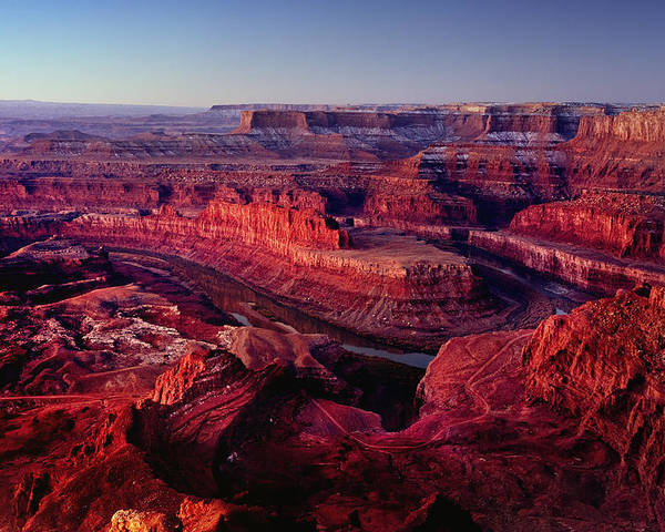 Dawn Poster featuring the photograph Dead Horse Point by Wade Aiken