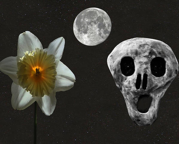 Death And The Daffodil Poster featuring the digital art Death And The Daffodil by Eric Kempson