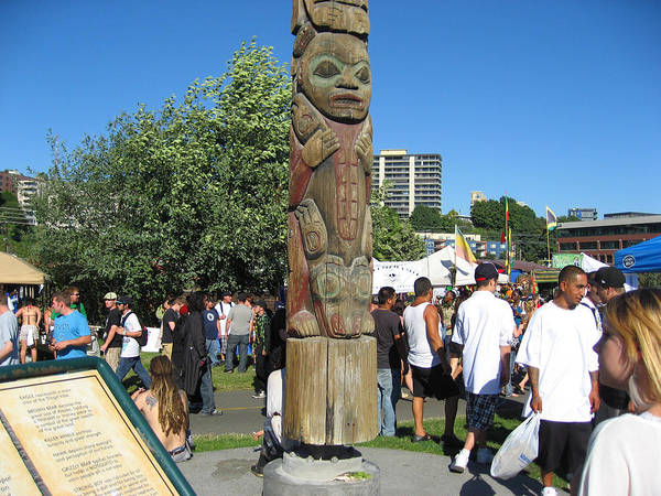 Totem Pole Poster featuring the photograph Death Of A Wood Carver by Kym Backland