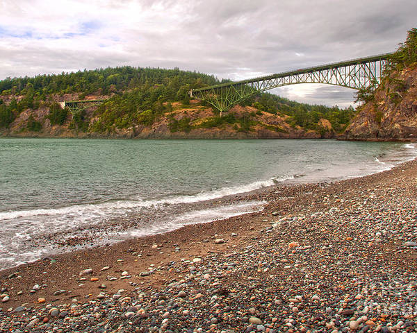 Deception Pass In Washington State Poster featuring the photograph Deception Pass Washington by Artist and Photographer Laura Wrede