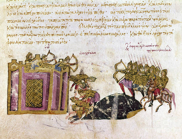 1047 Poster featuring the photograph Defense Of Constantinople by Granger