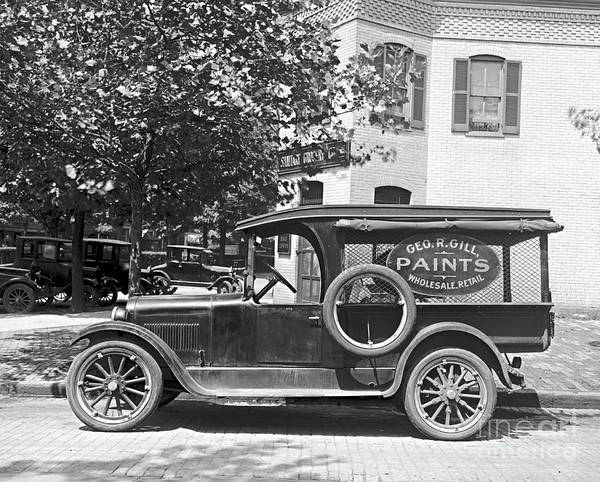 Delivery Truck 1916 Poster featuring the photograph Delivery Truck 1916 by Padre Art