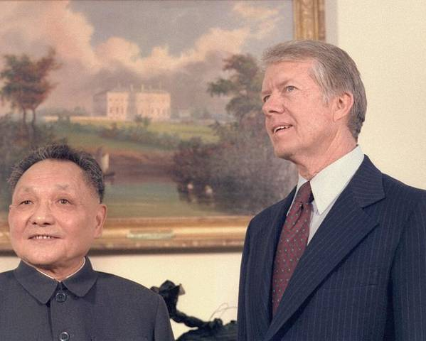 History Poster featuring the photograph Deng Xiaoping And Jimmy Carter by Everett