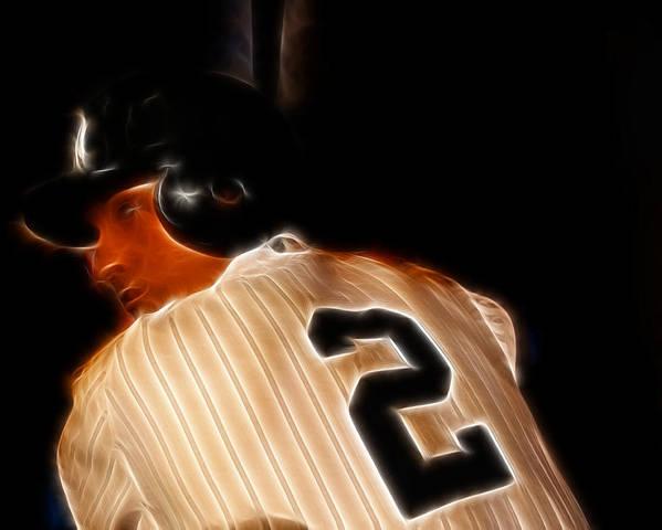 Lee Dos Santos Poster featuring the photograph Derek Jeter II- New York Yankees - Baseball by Lee Dos Santos