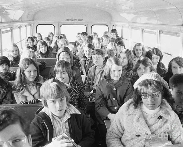 1973 Poster featuring the photograph Desegregation: Busing, 1973 by Granger
