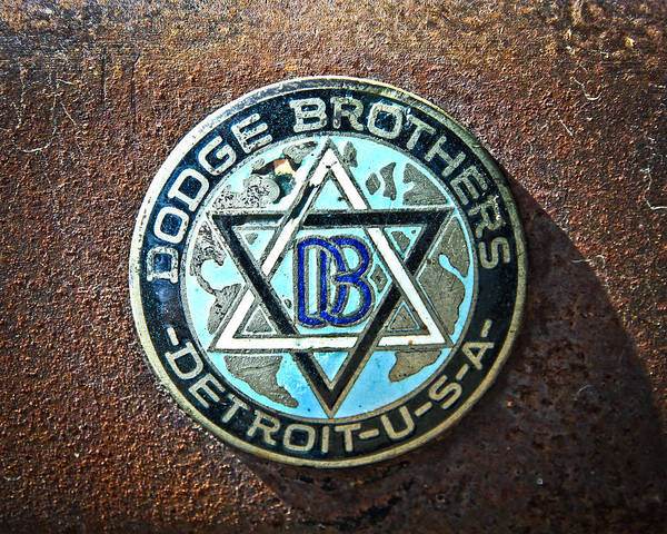 Antique Poster featuring the photograph Dodge Brothers Badge by Steve McKinzie