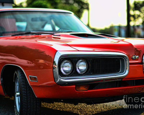 1970 Dodge Super Bee Poster featuring the photograph Dodge Super Bee Classic Red by Paul Ward