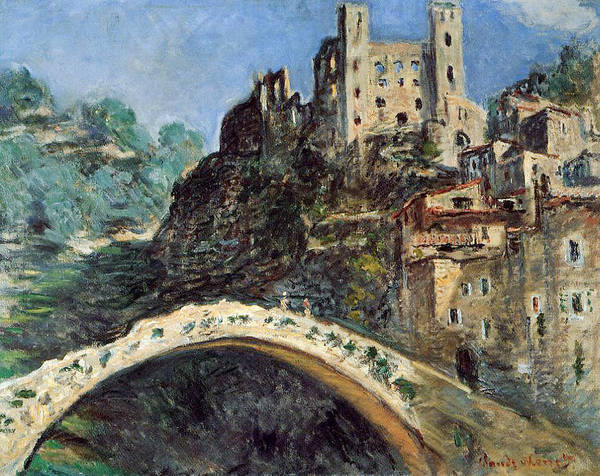 Dolceacqua Poster featuring the painting Dolceacqua by Claude Monet