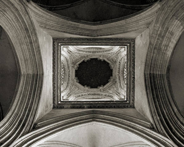 Dome Poster featuring the photograph Dome In Saint Jean Church - Caen by RicardMN Photography