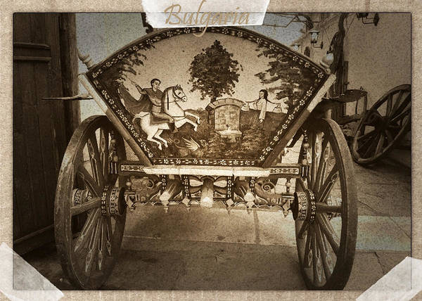 Donkey Cart Poster featuring the photograph Donkey Cart by Cliff Norton