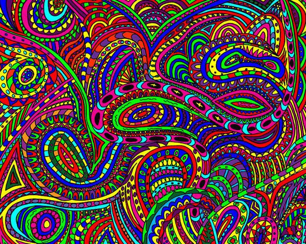 Doodle Art Poster featuring the mixed media Doodle 3 by Karen Elzinga